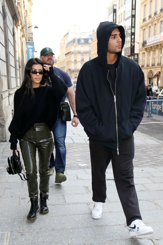 paris fashion week, Kourtney Kardashian and Younes Bendjima