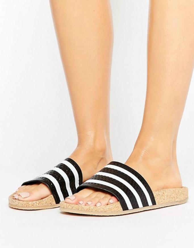 adidas Originals Adilette Slider Sandals Wth Cork Sole