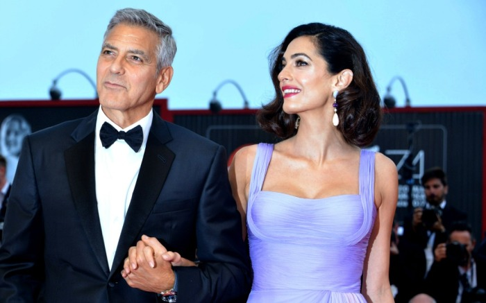 Amal and George Clooney at the Venice Film Festival
