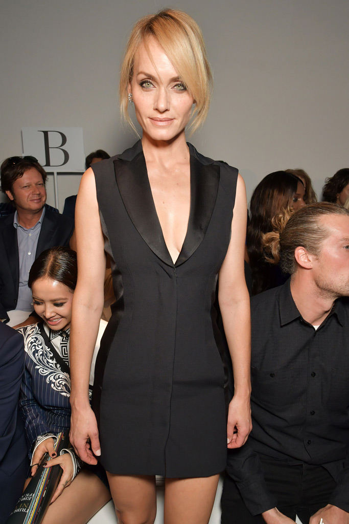 Amber Valletta front row at Versace Spring 2018