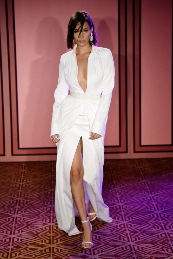 new york fashion week, brandon maxwell ready to wear spring 2018, bella hadid