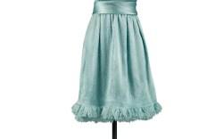 Blue Satin Givenchy Cocktail Dress