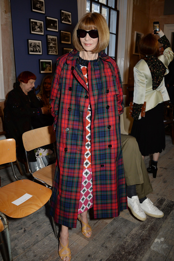 Anna Wintour front row at Burberry Spring 2018