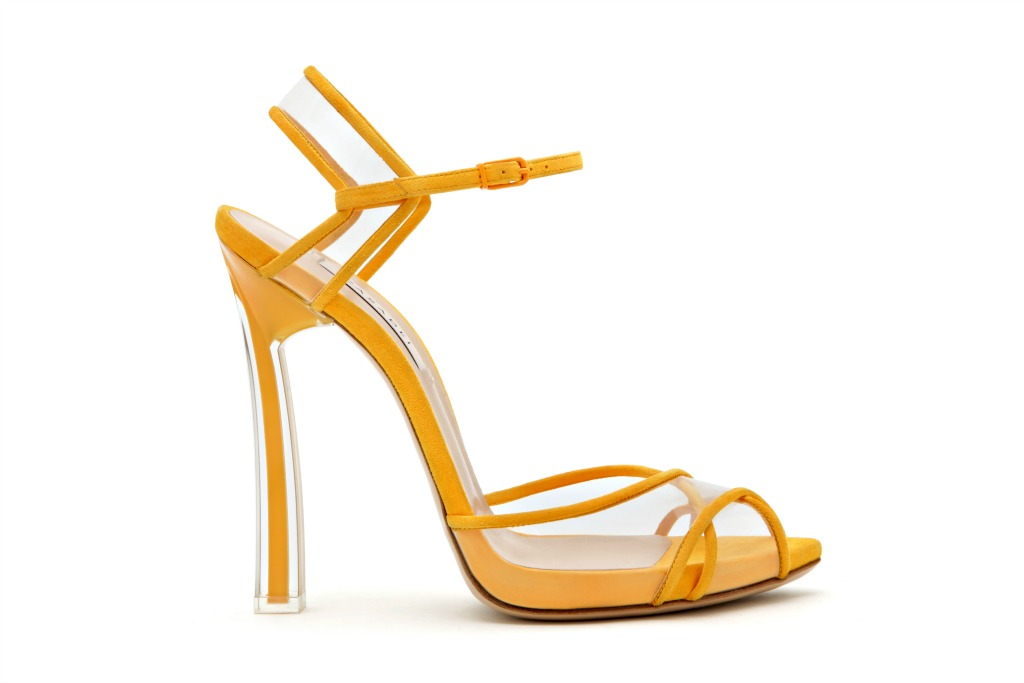 Casadei ready to wear spring 2018 yellow sandals