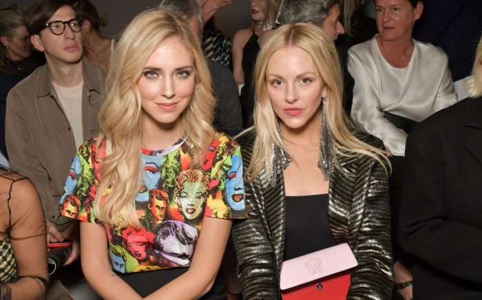 Celebs Sit Front Row at the Versace Spring '18 Show