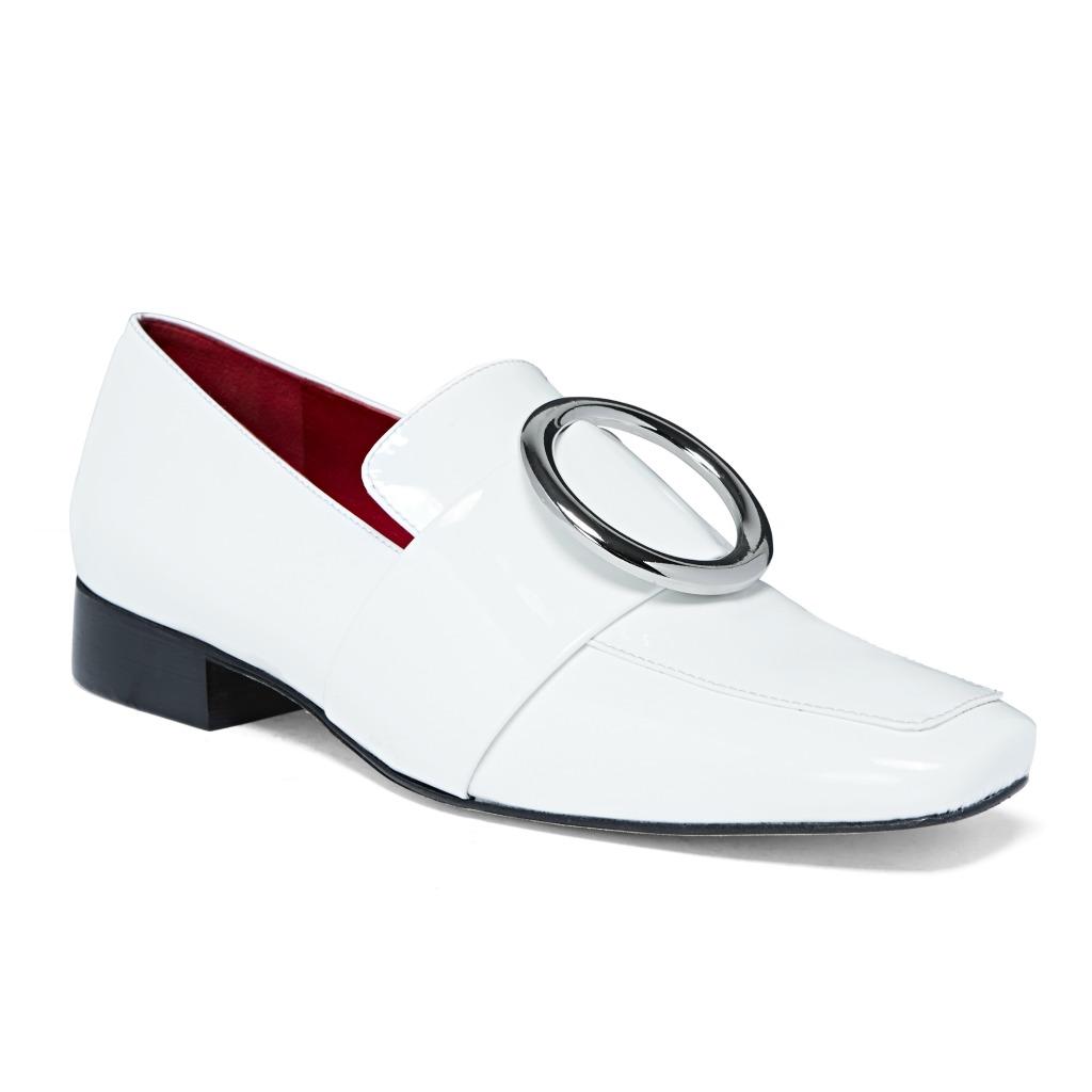 Dorateymur_White Patent Loafer Ring LuisaVRoma