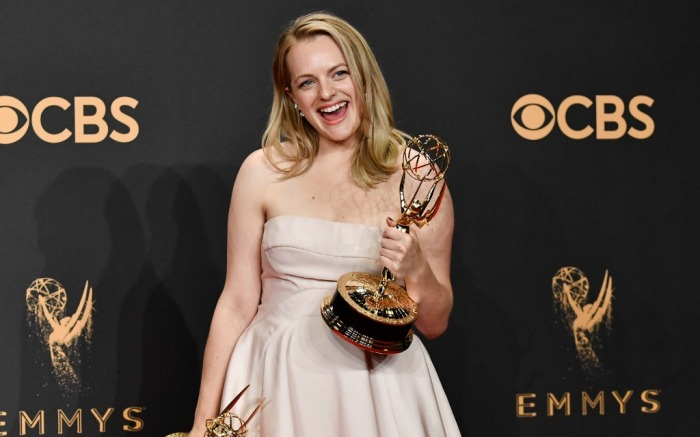Elisabeth Moss at the 69th Emmy Awards
