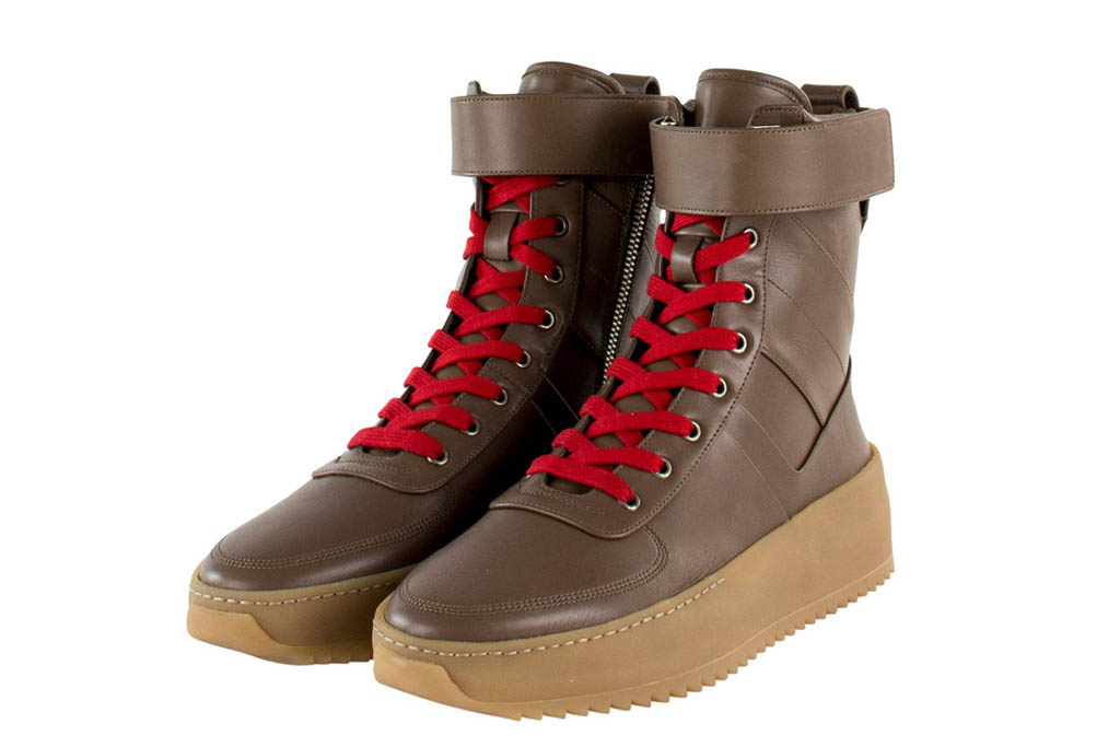 Fear of God Military Sneakers Brown Leather