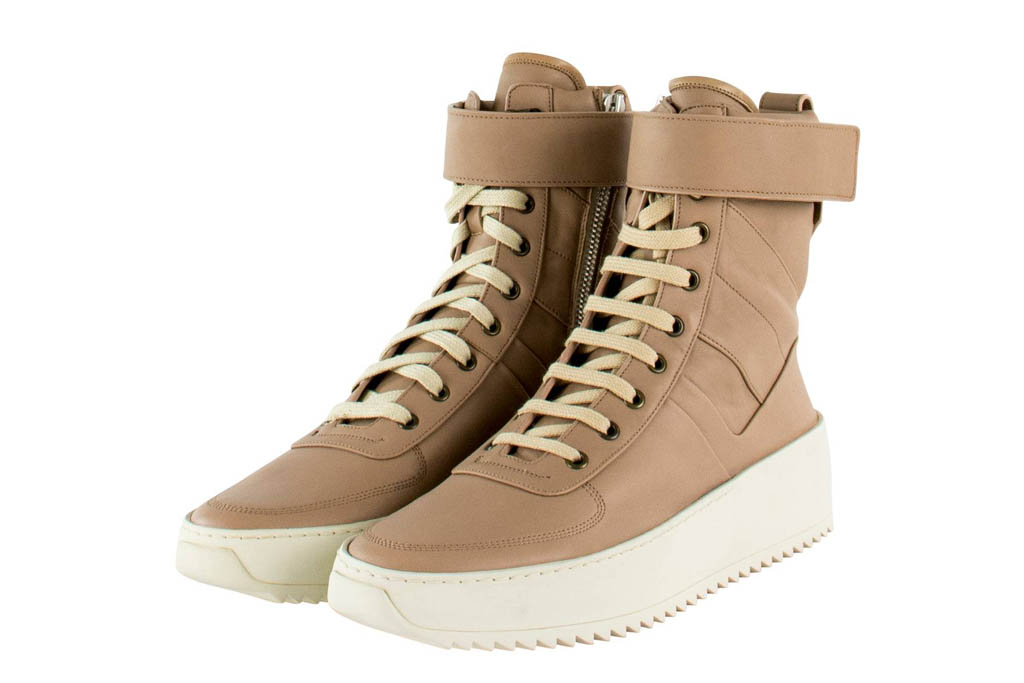 Fear of God Military Sneakers Tan Leather