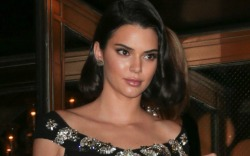 Kendall Jenner Shows Lingerie In See-Through
