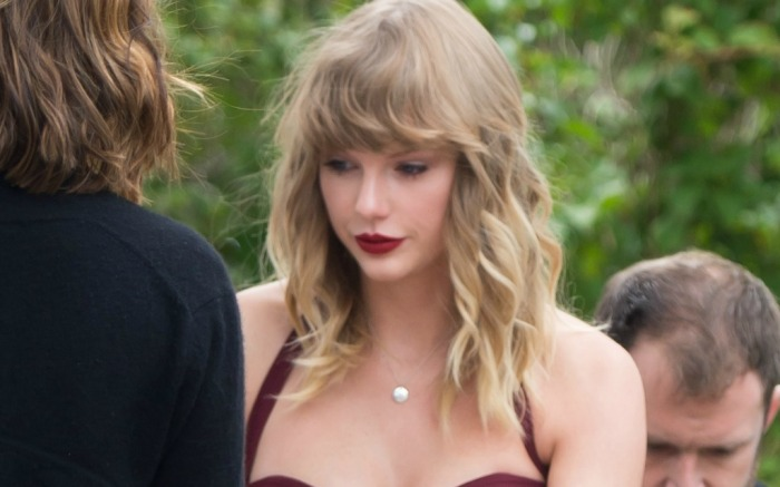 Taylor Swift at Abigail Anderson's wedding.