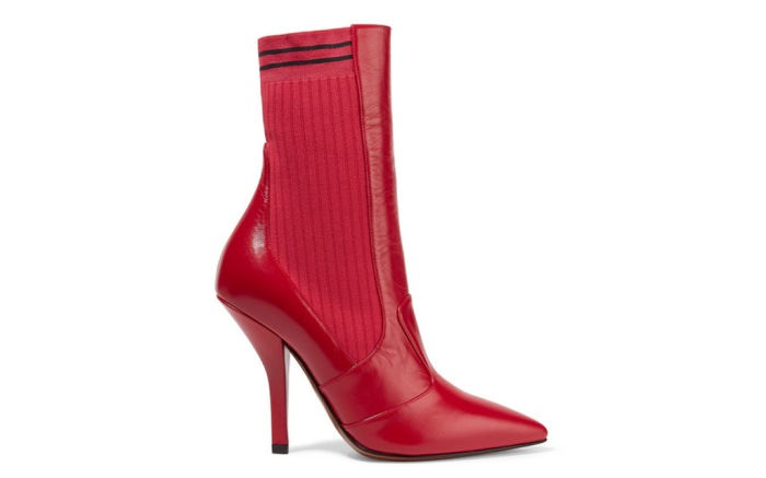Fendi Sock Boot Red