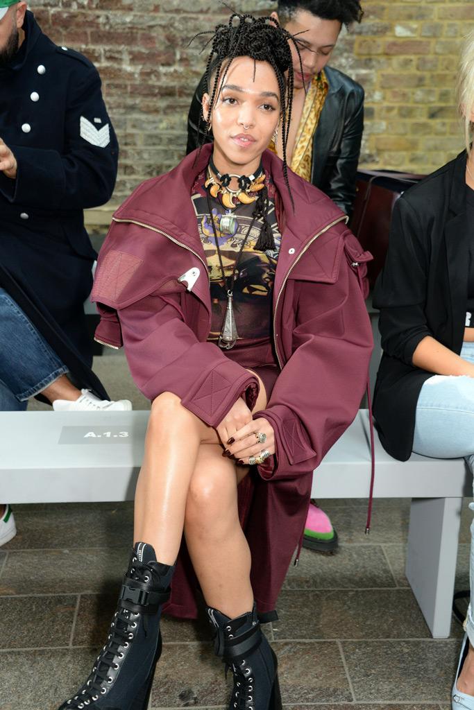 FKA Twigs at Versus Versace front row