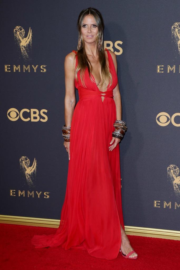 Heidi Klum at the 69th Emmy Awards