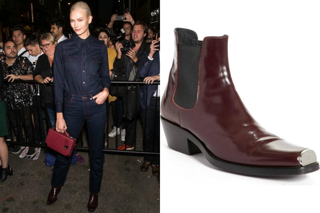 karlie kloss, Calvin Klein 205w39nyc Spazzolato Leather