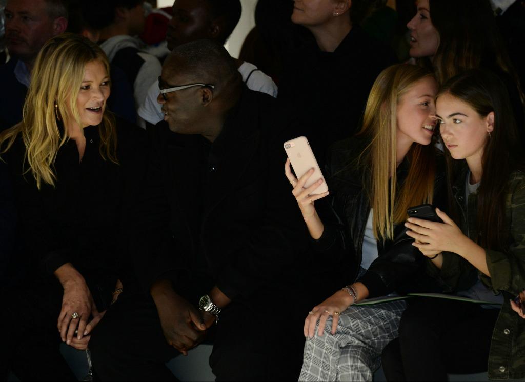 Kate Moss, Edward Enninful, Lila Grace, london fashion week, topshop spring 2018