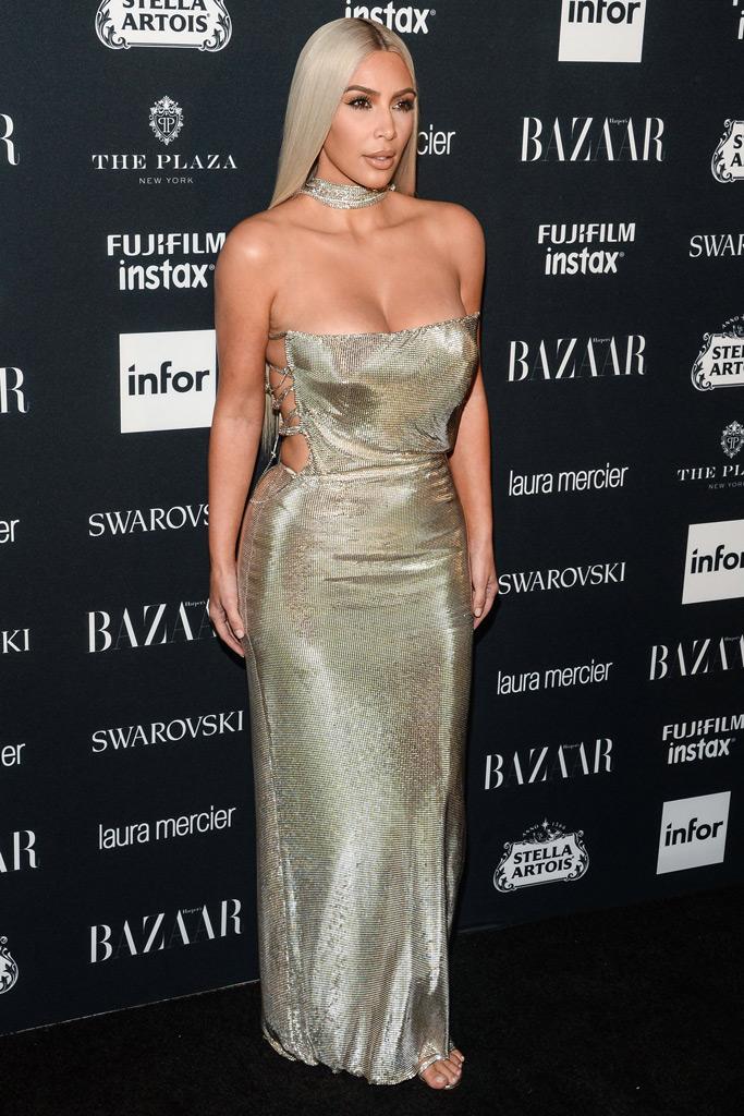 Kim Kardashian, Versace, Harper's Bazaar