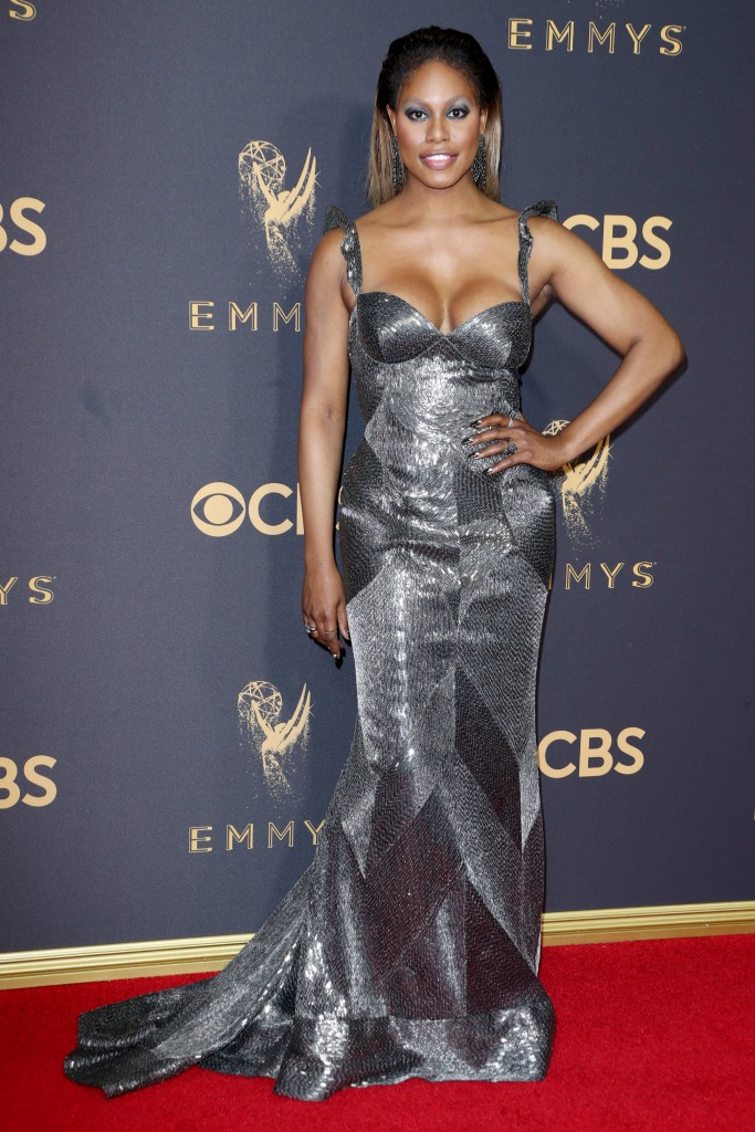 Laverne Cox at the 69th Emmy Awards.