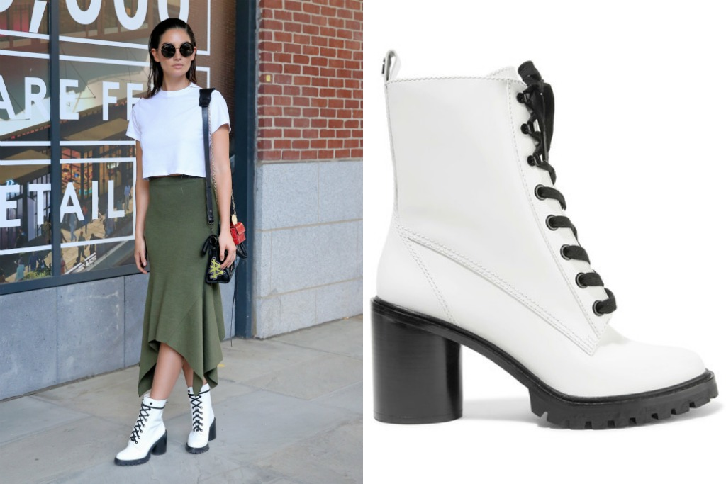 marc jacobs, Ryder lace-up polished-leather ankle boots, lily aldridge, jason wu