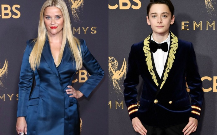 2017 emmys red carpet, reese witherspoon, noah schnapp