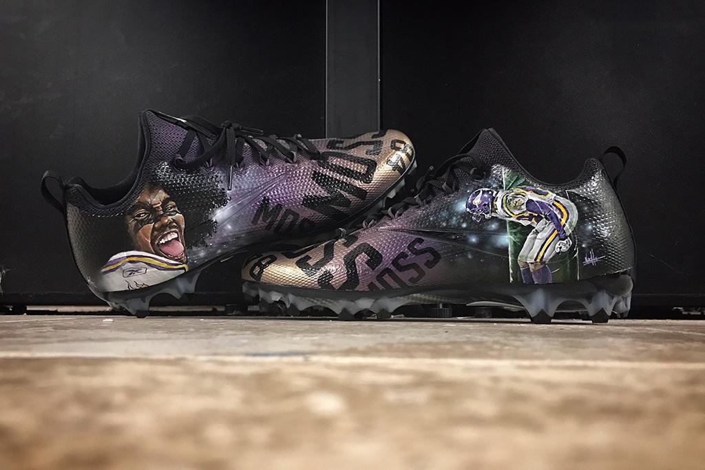 Stefon Diggs Nike cleats Mache NFL Randy Moss