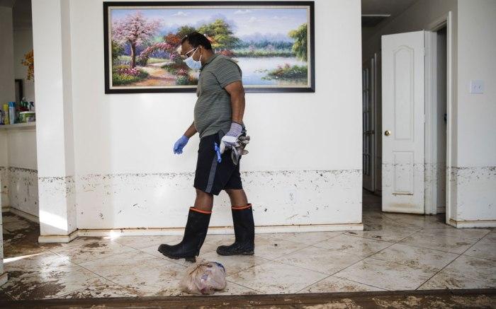 Hurricane Harvey clean up