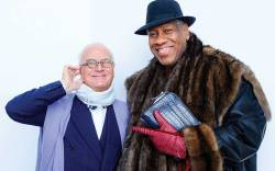 Manolo Blahnik with André Leon Talley