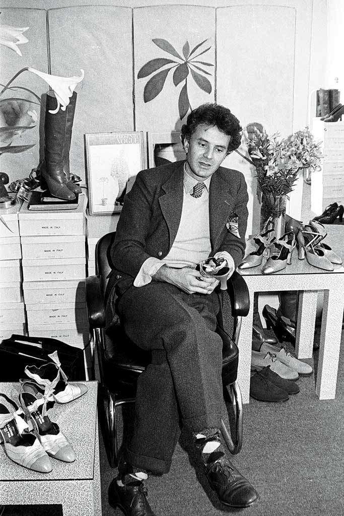 Manolo Blahnik in 1975