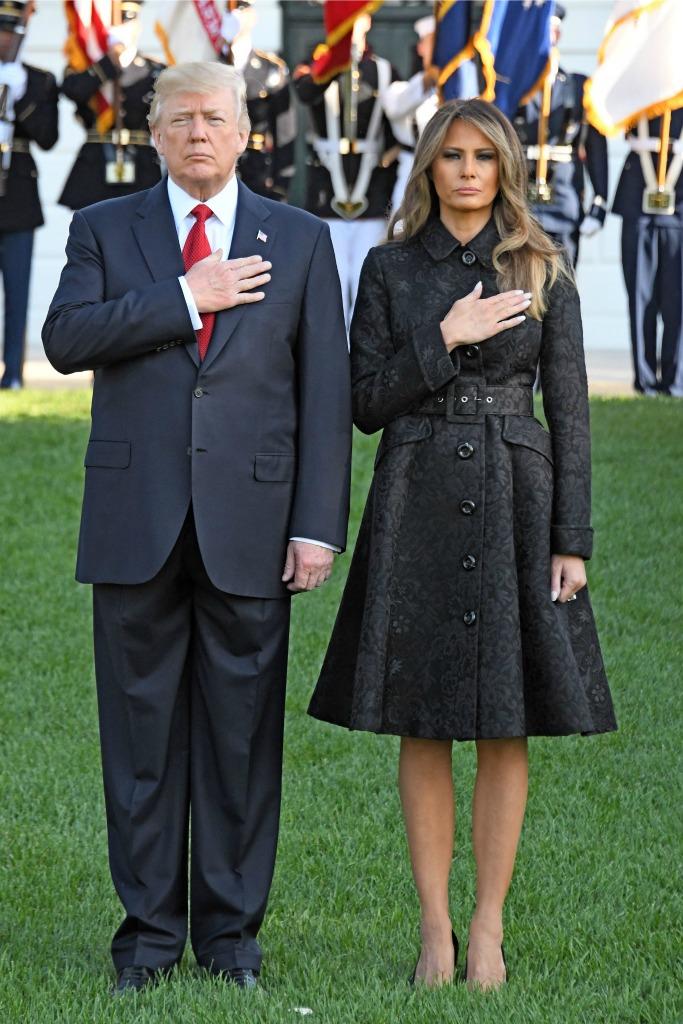 Melania Trump at 9/11 Memorial on White House lawn