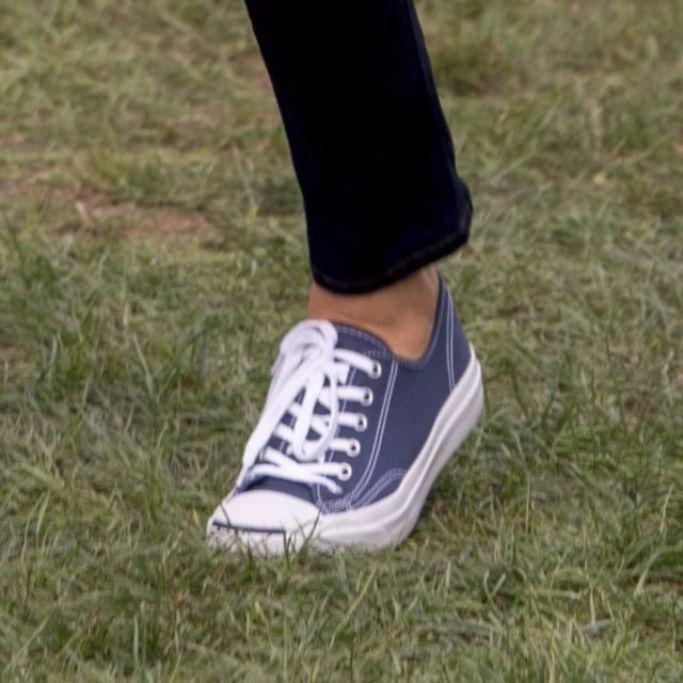 Detail of Melania Trump's shoe