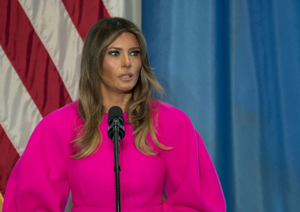 melania trump hot pink dress delpozo un