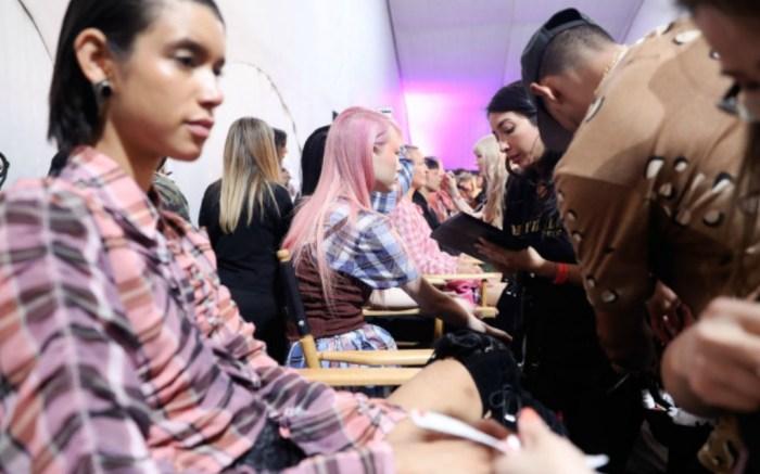 Models backstageOpening Ceremony x Made LA show, Backstage, Los Angeles, USA - 09 Jun 2017