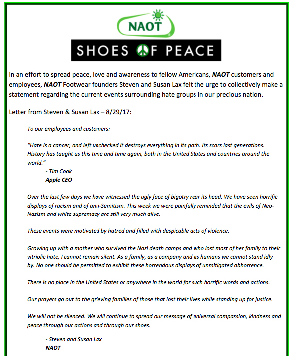 Naot Anti-Hate Statement