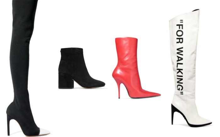 Boots by GIvenchy, Sam Edelman, Balenciaga and Off White