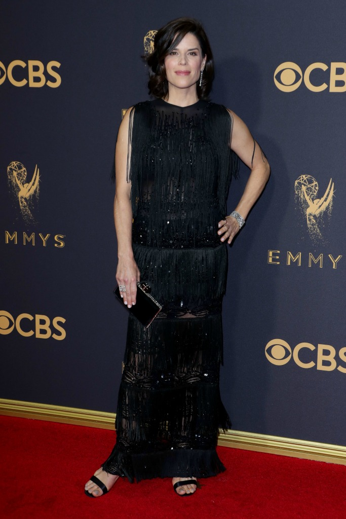 Nev Campbell at the 69th Emmy Awards