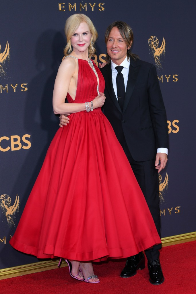 Nicole Kidman and Keith Urban at the 69th Emmy Awards