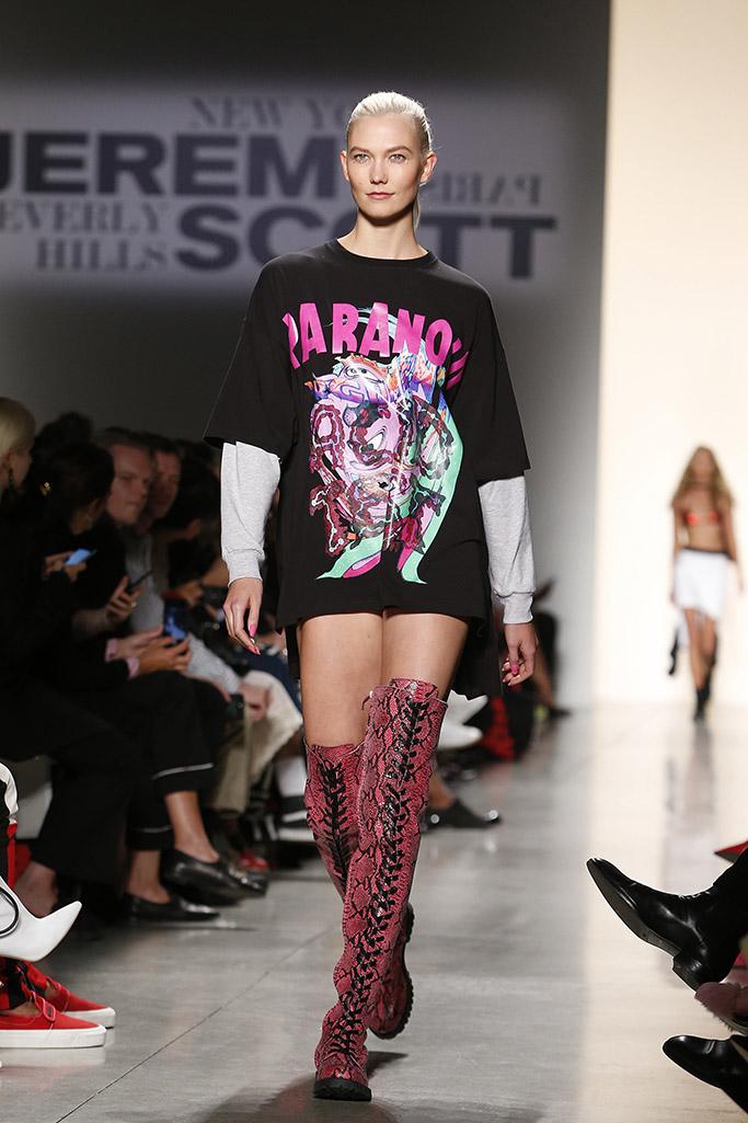 jeremy scott, new york fashion week, crazy shoes, thigh high boots