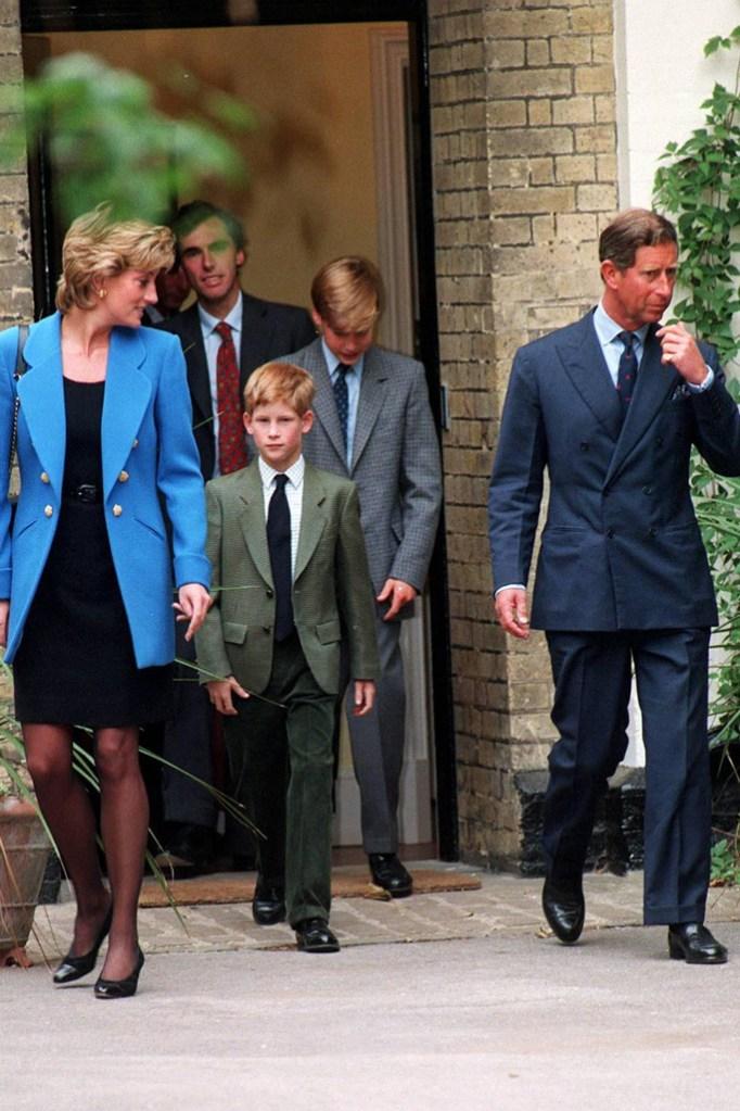 prince harry, princess diana, church, parents, 1990s