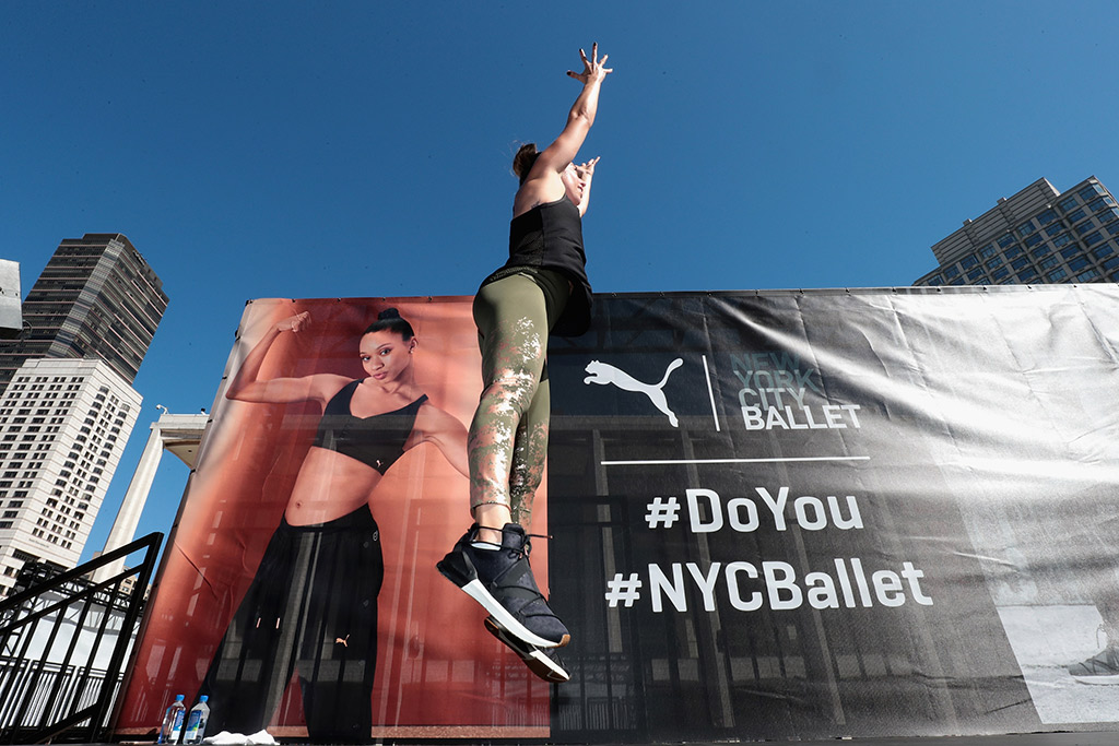 puma, nyc ballet, hiit workout, lincoln center plaza