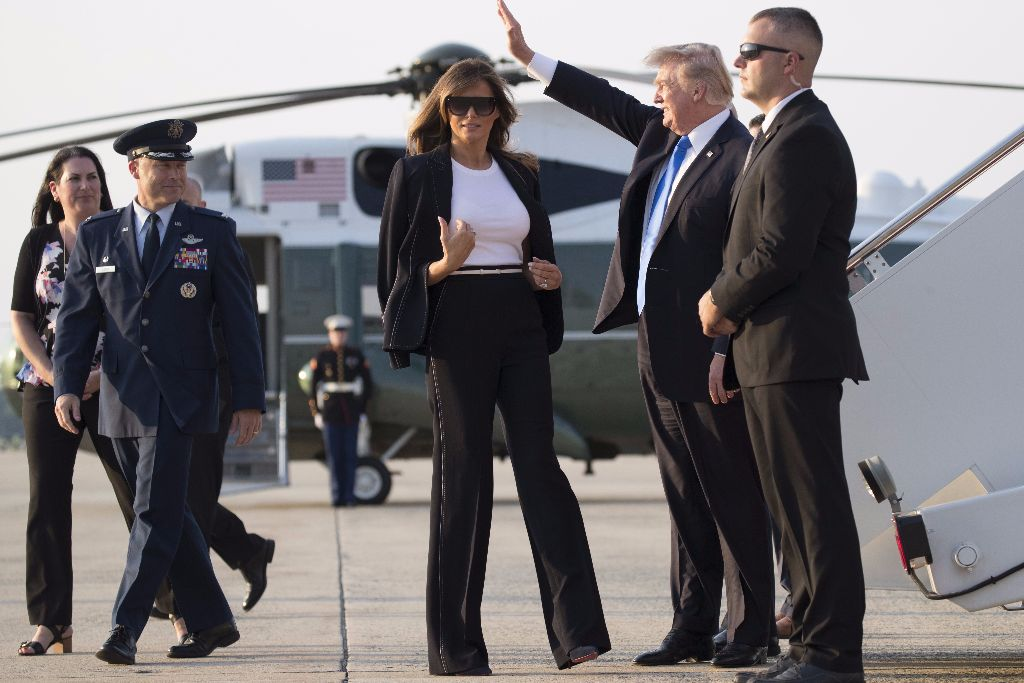 Melania Trump wearing Escada, July 2017