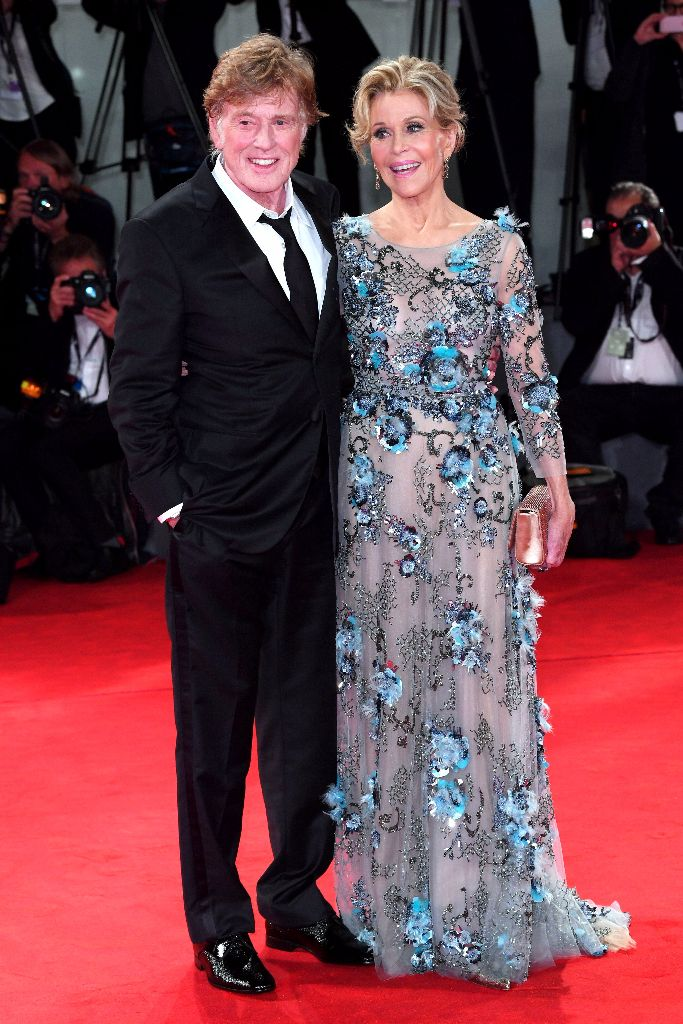 "Jane Fonda and Robert Redford at the ""Our Souls at Night"" premiere at the Venice International Film Festival"