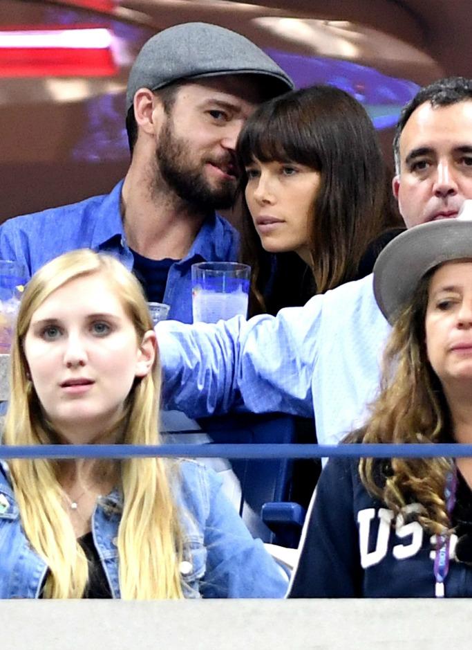 Justin Timberlake and Jessica Biel, 2017 us open