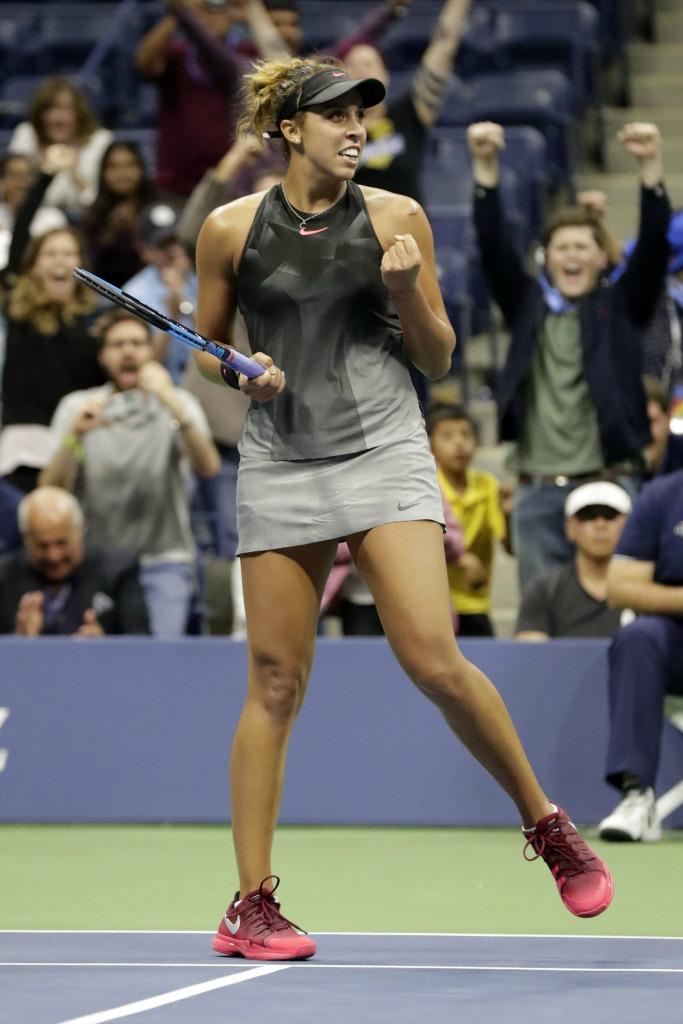Madison Keys at the 2017 U.S. Open