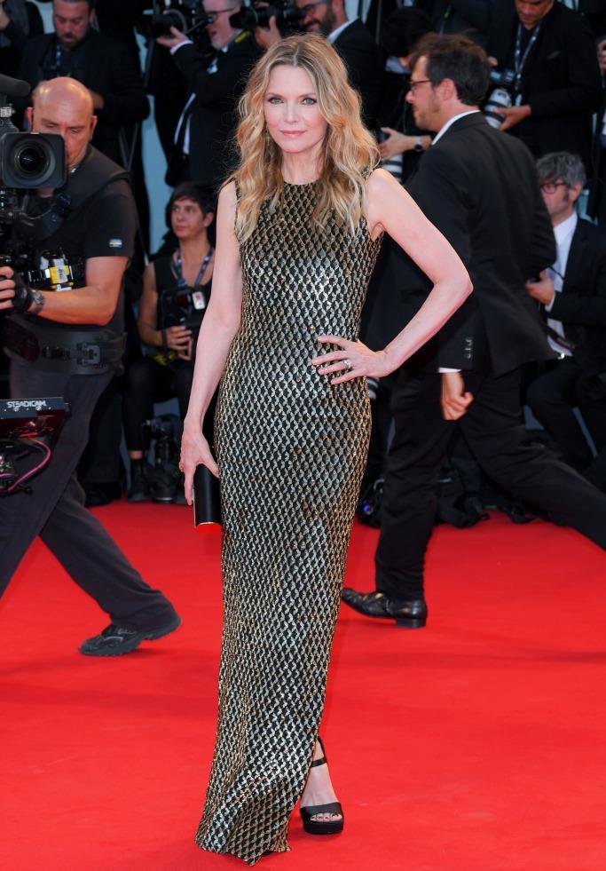 Michael Kors, Ferragamo, Michelle Pfeiffer, venice film festival, mother! premiere
