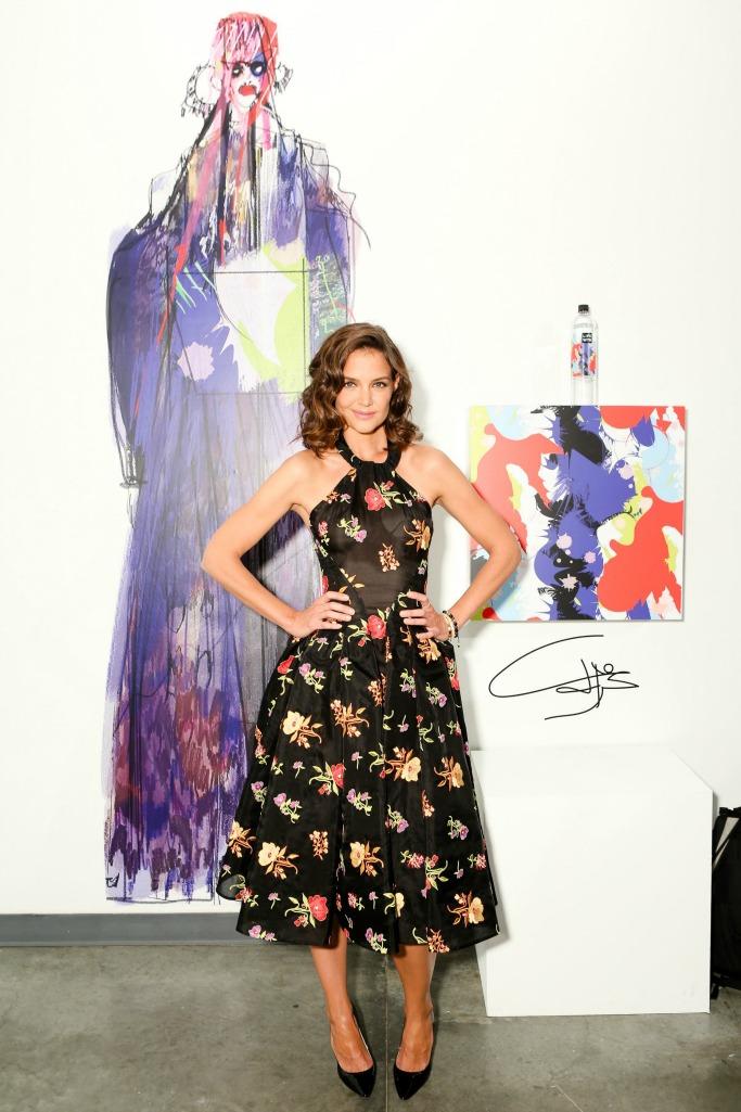 katie holmes, new york fashion week