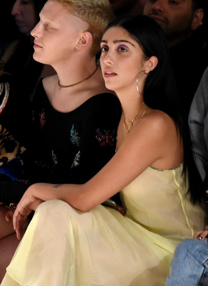 jeremy scott spring 2018, lourdes leon, madonna, new york fashion week, front row
