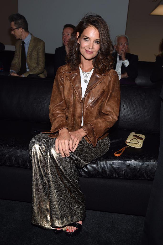 katie holmes, front row, ralph lauren, new york fashion week