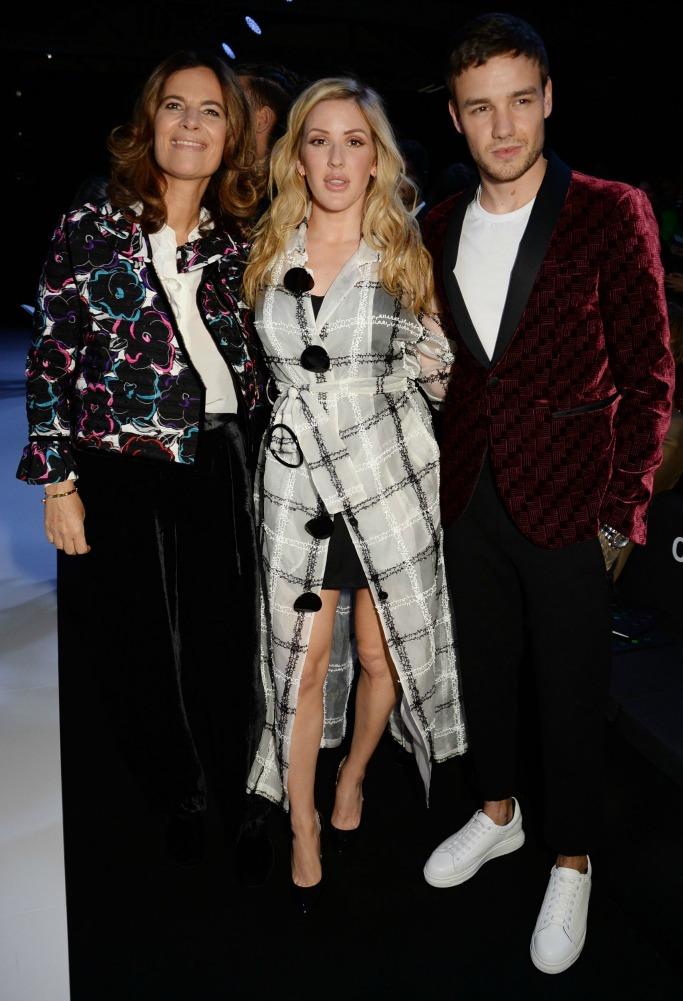 Emporio Armani spring 2018 after party, london fashion week, liam payne, Roberta Armani, ellie goulding