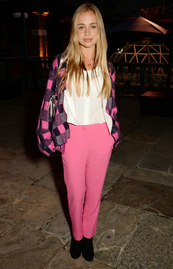 Emporio Armani spring 2018 after party, london fashion week, Lady Amelia Windsor