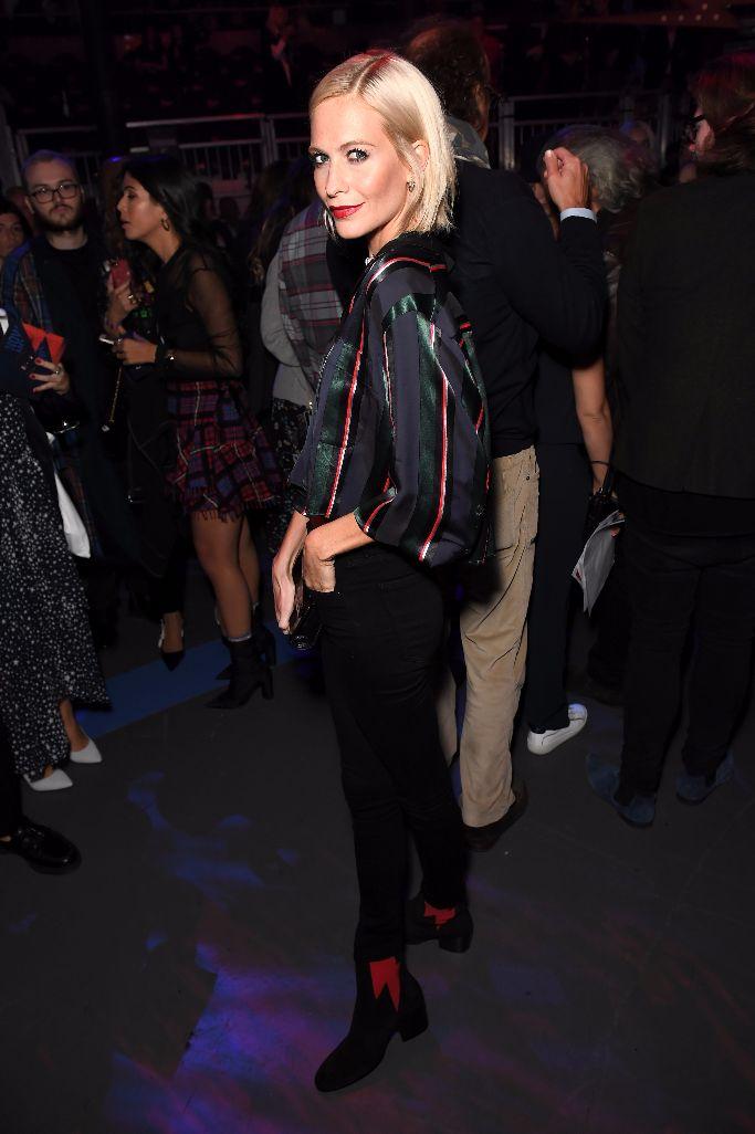 poppy delevingne, london fashion week, tommy hilfigerfront row